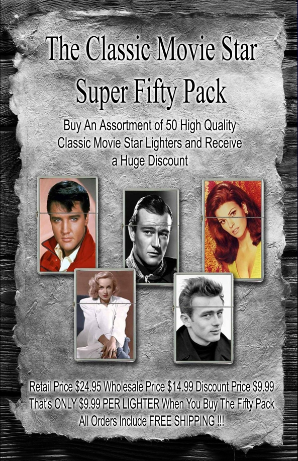 Classic Movie Star Lighter Collection